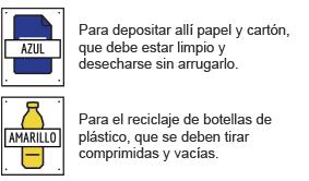 Reciclaje de papel, cartón y plástico